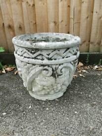 Large stone plant pot