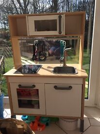 Ikea kids miniature kitchen with microwave and hob