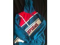 Supreme diagonal hoodie XL