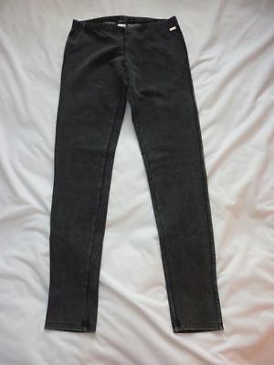Guess Women Junior Black Acid Wash Cotton Blend Stretch Leggings Pant Sz S NWT ()