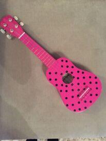 Children's wooden guitar, great Christmas present!