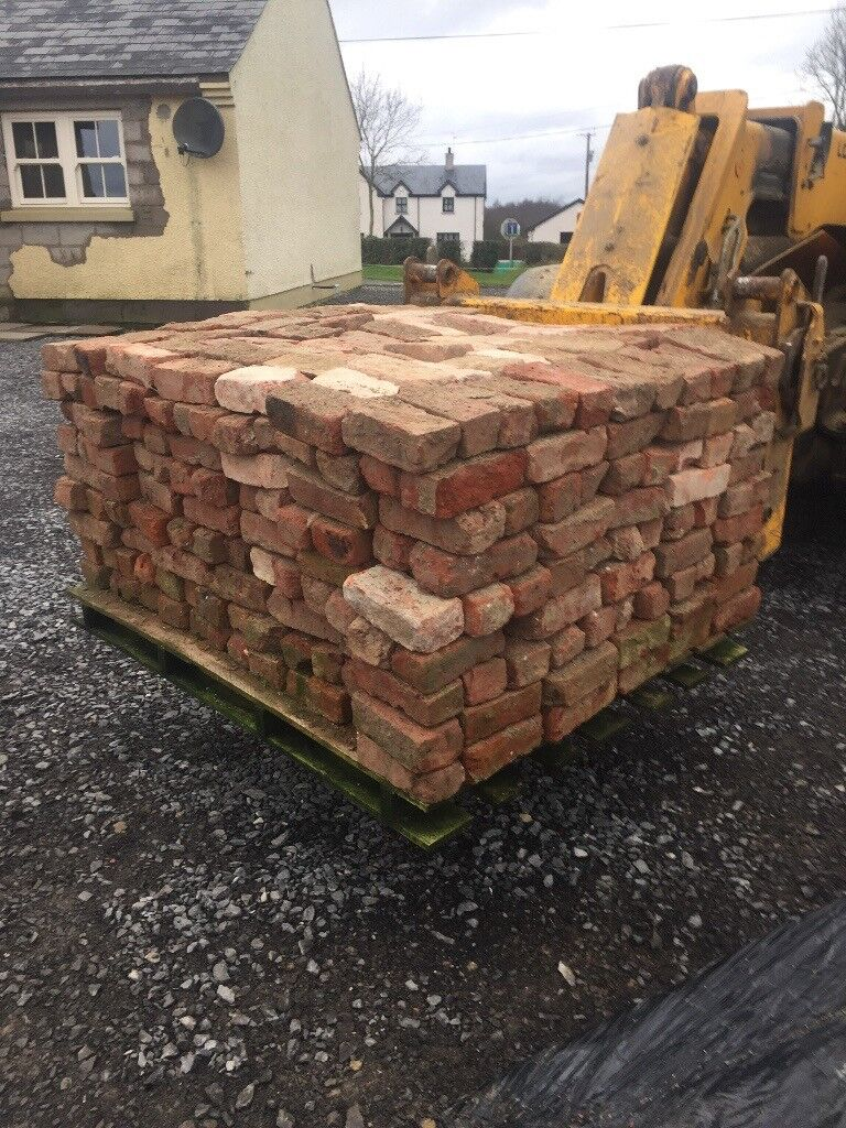 Old reclaimed red bricks