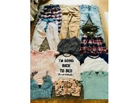 Bundle of clothes, size 6. Jeans, pj bottoms, shirts & tops.