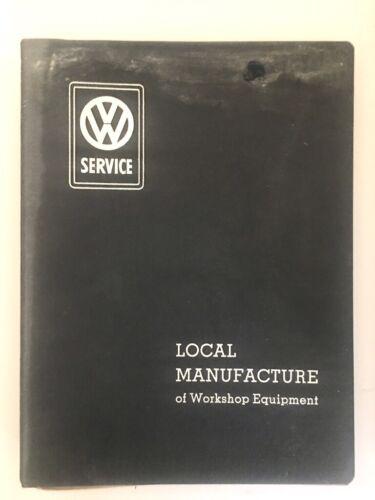 Vintage Volkswagen 1955 Local Manufacture of Workshop Equipment Service Manual
