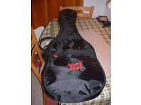 Padded electric guitar gig bag-as new