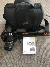 DSLR Nikon D5500 with accessories £400