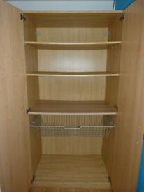 Double wardrobe/cupboard Pax/Komplement: 3 shelves + basket drawer