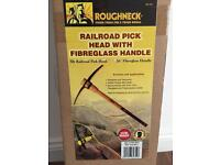 Roughneck Pick Axe with Fibreglass Handle - Brand New