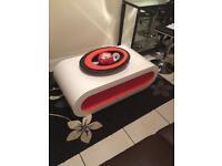 White & orange gloss coffee table