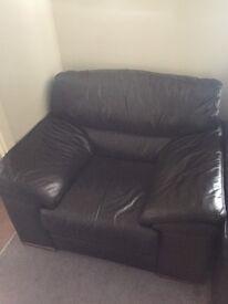 Leather Single Sofa