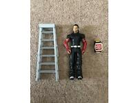 WWE MATTEL JEFF HARDY with belt and ladders