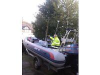 560 rib boat