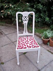 4 White Dining Chairs - Newly Refurbished