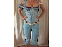 White&Blue rubber costume (3 pieces) by House of Harlot