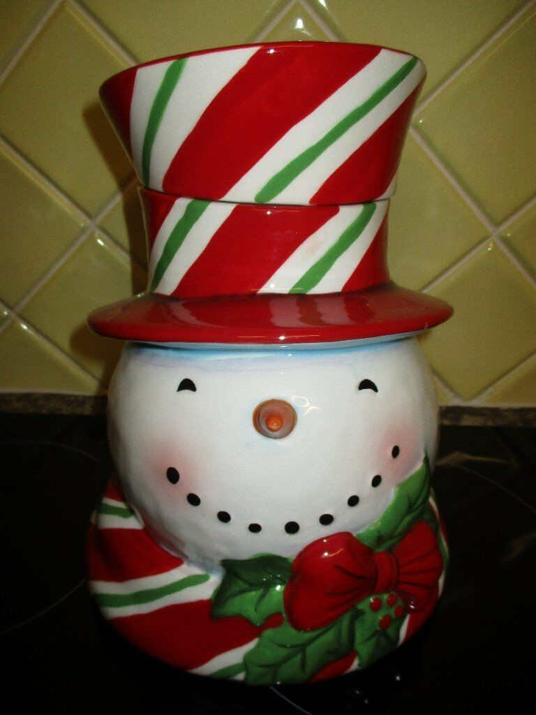 Brand new Snowman cookie jar