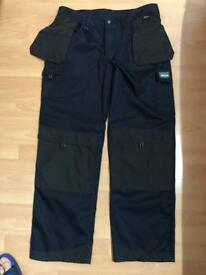 Trojan work trousers 38waist leg34tall x3pr