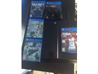 Ps4 500gb with 5 games and a controller