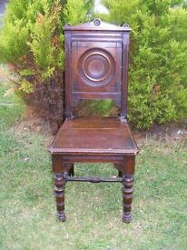 CAN DELIVER - 19TH CENTURY VICTORIAN CHAIR IN VERY GOOD CONDITION