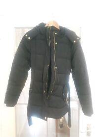 Ladies Navy Padded Winter Jacket Size 10