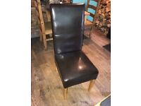 "47 Restaurant Leather Chairs ""Sold as one job lot"""
