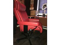 Red leather office chair made on order