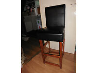 Faux leather black chair