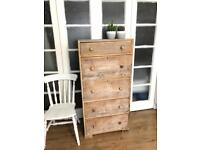Tallboy/Chest of Drawers Free Delivery Ldn shabby chic reclaimed wood