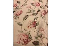 Laura Ashley Hydrangea pink natural curtains x2 pairs