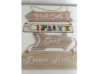 Wedding signs - photobooth, dance floor, bar, party