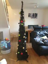 6ft black pop up Christmas Tree with lights