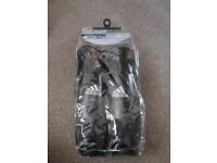 Black ADIDAS Shin Guards, New and unused. Large