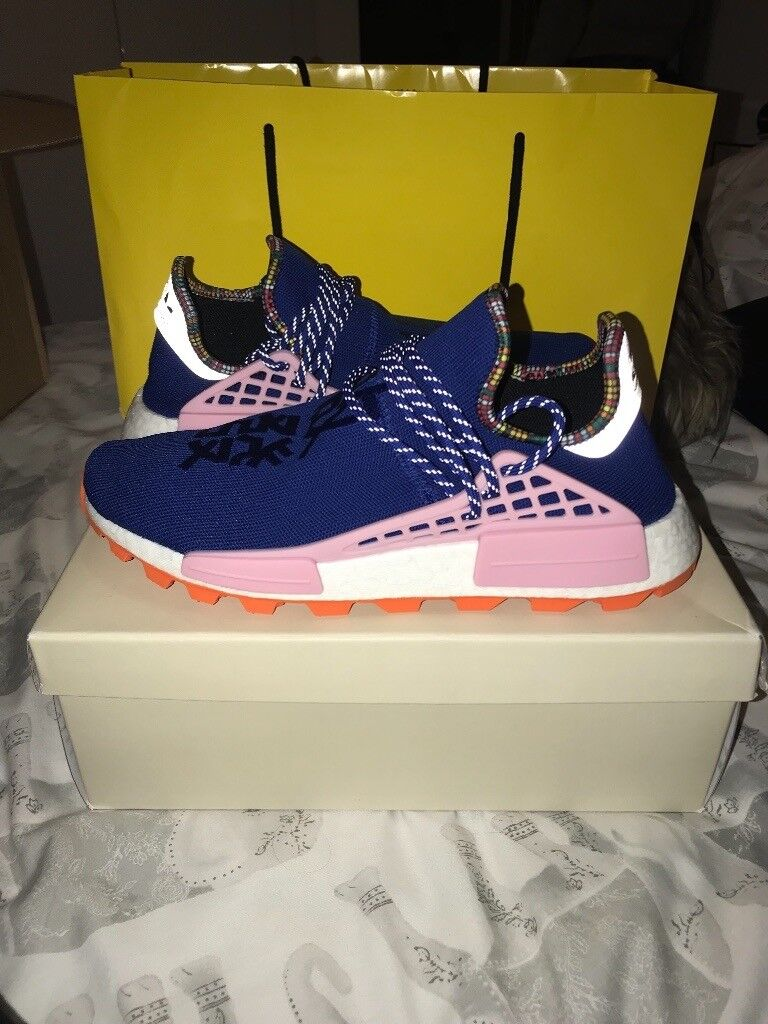 152b662a8 Adidas X Pharrell Williams NMD HU  Inspiration Pack  - Solar Blue - UK 10