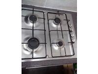 bosch stainless steel 4 burner hob display