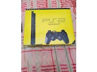 Ps2 Black slim with box 1 controller 2 Memory Cards And 14 games