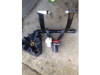 Turbo Trainer and Riser Block