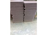 55 BROWN ROOF TILES - BRAND NEW