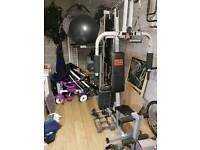3 station multigym home gym