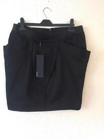 Black posh skirt stretchy waist size 14