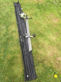 Sea fishing rod, reel, tripod and rigs etc