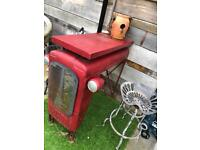2 x tractor stools for garden antique vintage