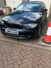 Black BMW 116i sports automatic 56k on the clock