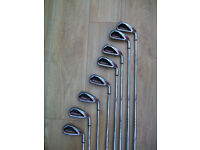 CALLAWAY DIABLO EDGE IRONS - 8 CLUB SET - 4 THRU 9 + PW+ ATTACK WEDGE -VERY GOOD CONDITION