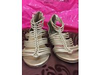 Size 6 Gold Sandals