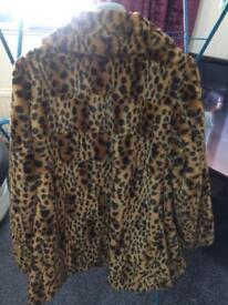 Leopard print women's coat
