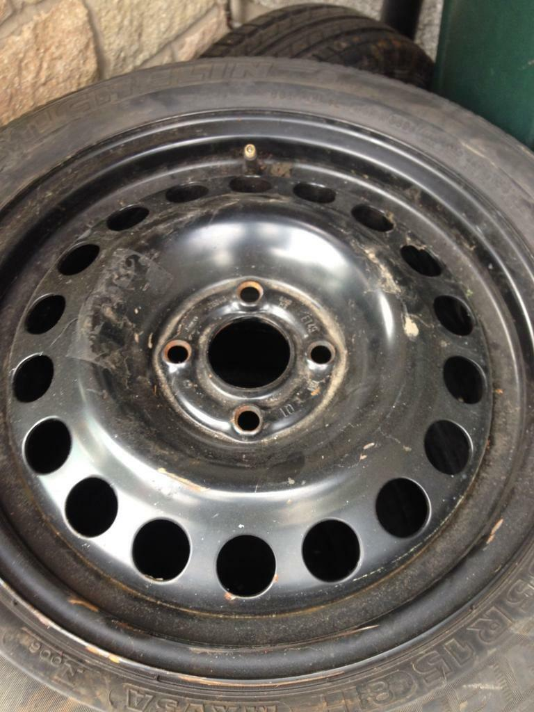 Vauxhall steel rim with brand new tyre