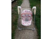 Graco baby's pink swing
