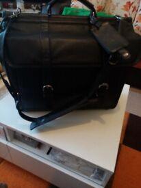 Toshiba leather bag
