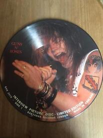 RARE Guns and roses limited edition picture disk