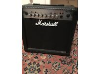 Marshall MG15CFX Amplifier and footswitch