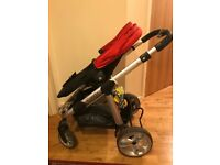 Apple Icandy with carry cot and maxi cosi car seat